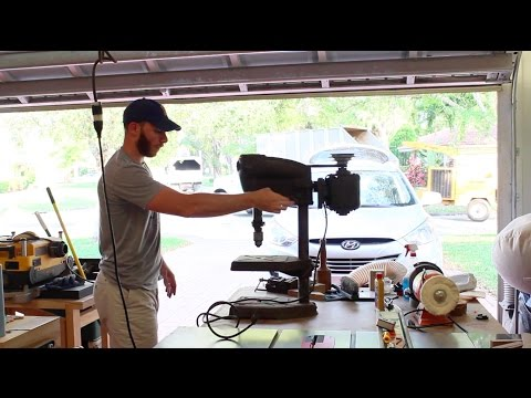 """Making a $20 Drill Press Stand for an Old Sprunger 14"""""""