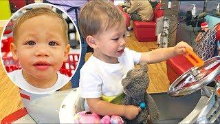 Little Landon Gets An Adorable Haircut!