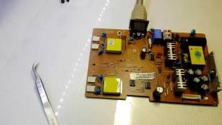монітор LG FLATRON L1953S ремонт блоку живлення