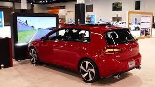 New 2019 Volkswagen Golf GTI Virtual Reality Racing Video Game - 2018 OC Auto Show