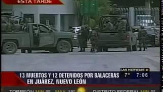 Repeat youtube video Fuerte Balacera en Reynosa Deja 13 Sicarios Muertos y 12 Detenidos