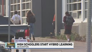 Beaverton HS welcomes back students for start of hybrid learning