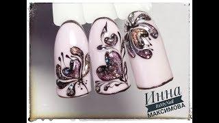 ❤ ПРОСТОЙ дизайн к 14 ФЕВРАЛЯ ❤ СЕРДЕЧКИ на ногтях ❤ Дизайн ногтей гель лаком ❤