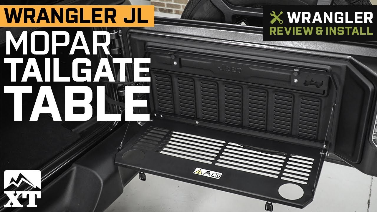 how to make a jeep tailgate table