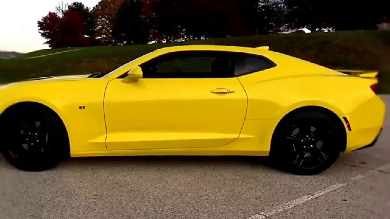 2016 Chevrolet Camaro Yellow Ss 6 Spd In Depth Review