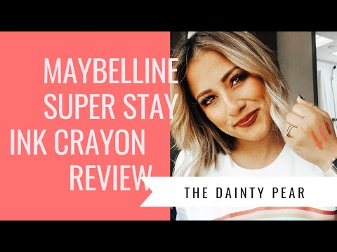 Maybelline Super Stay Ink CRAYON Review || #tdpyoutube