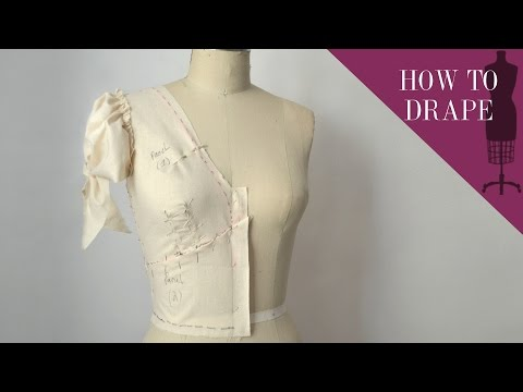 How To Drape A V-neck Puff Sleeve Bodice