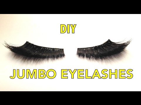 DIY HOW I CREATE MY JUMBO LASHES