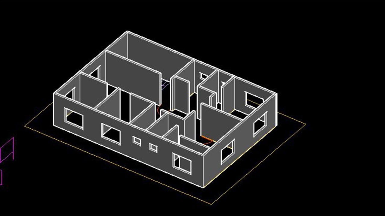 Autocad 2018 2d And 3d Beginners Tutorial Complete Floor Plan And 3d House Modeling Part 2