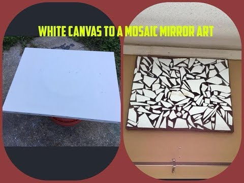 DIY Mosaic Mirror Wall Art