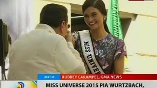 BT: Miss Universe 2015 Pia Wurtzbach, nag-courtesy call sa Manila City Hall