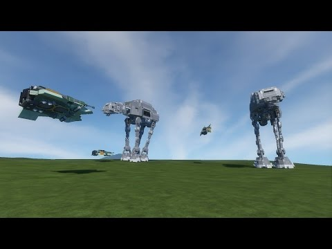 Space Engineers Live Stream - Star Wars Builds, Planets, Walkers, ATAT, ATST, and friends!