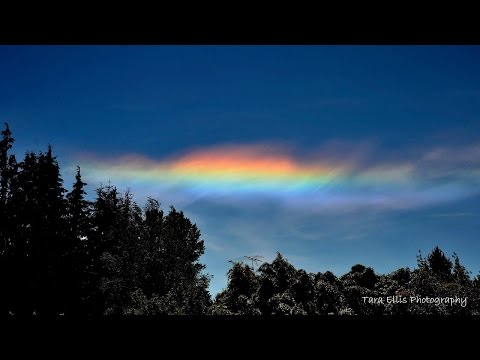 """Circumhorizontal Arc... or """"Fire Rainbow"""" over the Pacific Northwest"""