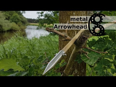 Metal Arrowhead Arrow - simple weapons