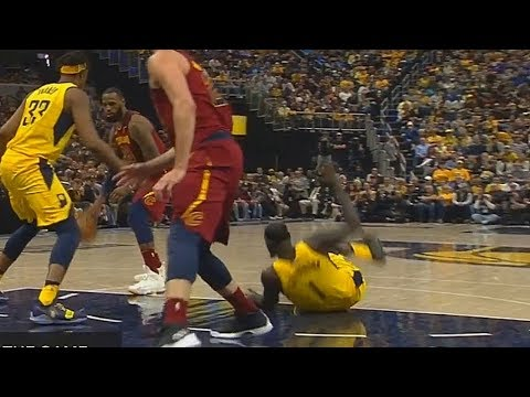 LeBron James Knocks Down Lance Stephenson! Cavaliers vs Pacers