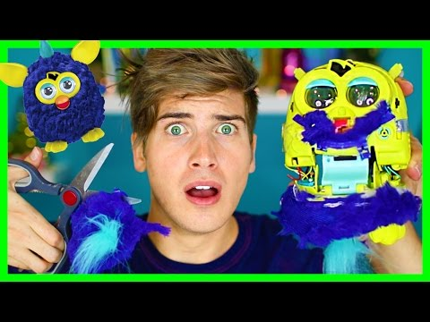 CUTTING OPEN KIDS TOYS! - FURBY