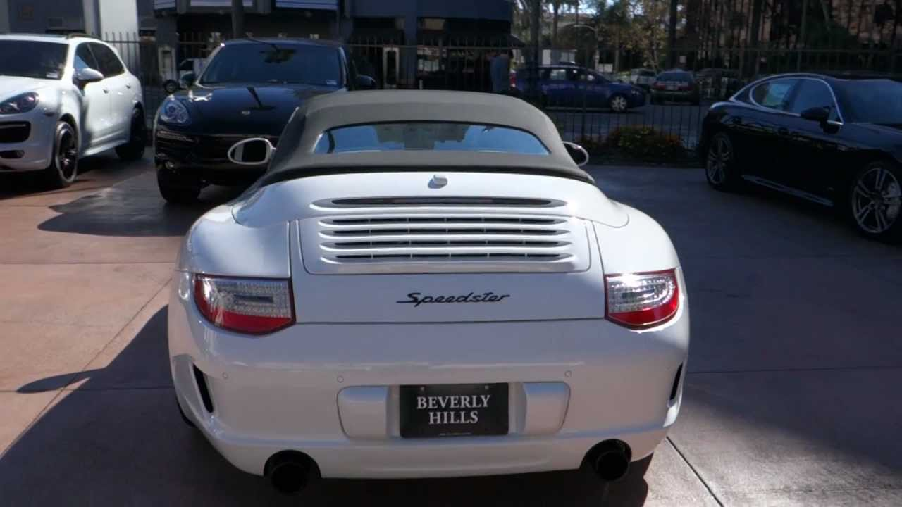 2011 Porsche 911 Speedster Convertible Top Operation How To Open And Close Canvas Top Beverly