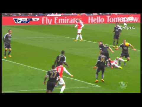 Arsenal VS Leicester City 2st half highlight (2-1)