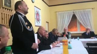 Zachowanie burmistrza na zebraniu sprawozdawczym w OSP Przedbórz