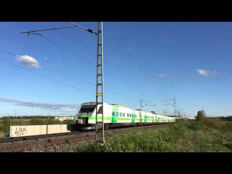[VR] Finnish Pendolino service S65 to Vaasa passing Kytömaa.