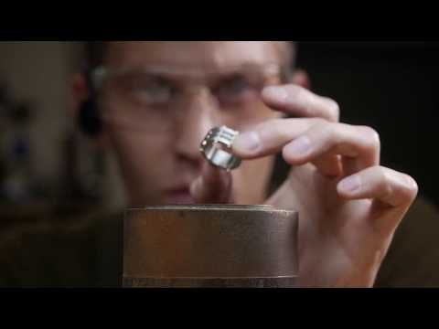 How it's made - Brass Rivets in a Steampunk Style Titanium Men's Ring