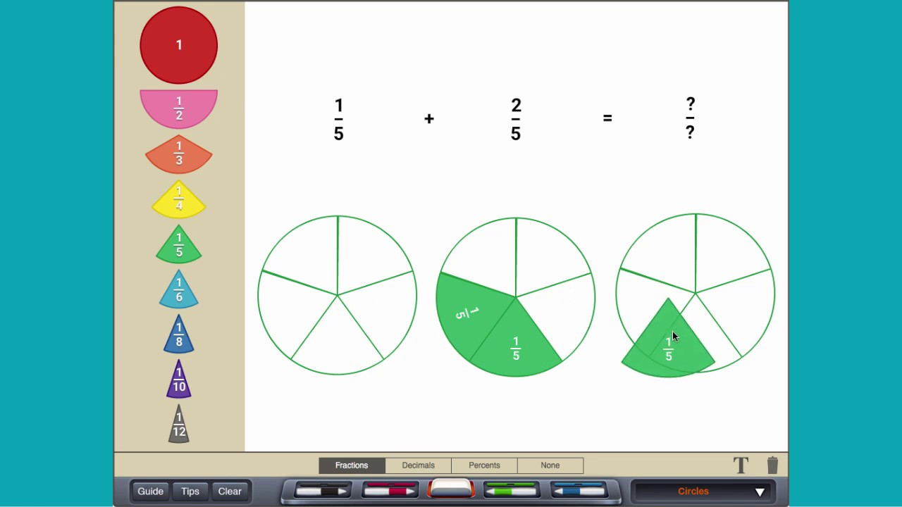 how to add fractions with like denominators