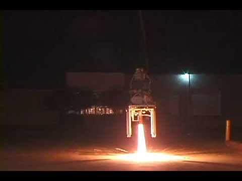 Vertical takeoff and landing rocket test from ground 2005/09/10 #4