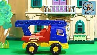 Мультик про машинки. Пожарная машина, Свинка Пеппа, Машинка-конструктор. МанкиМульт