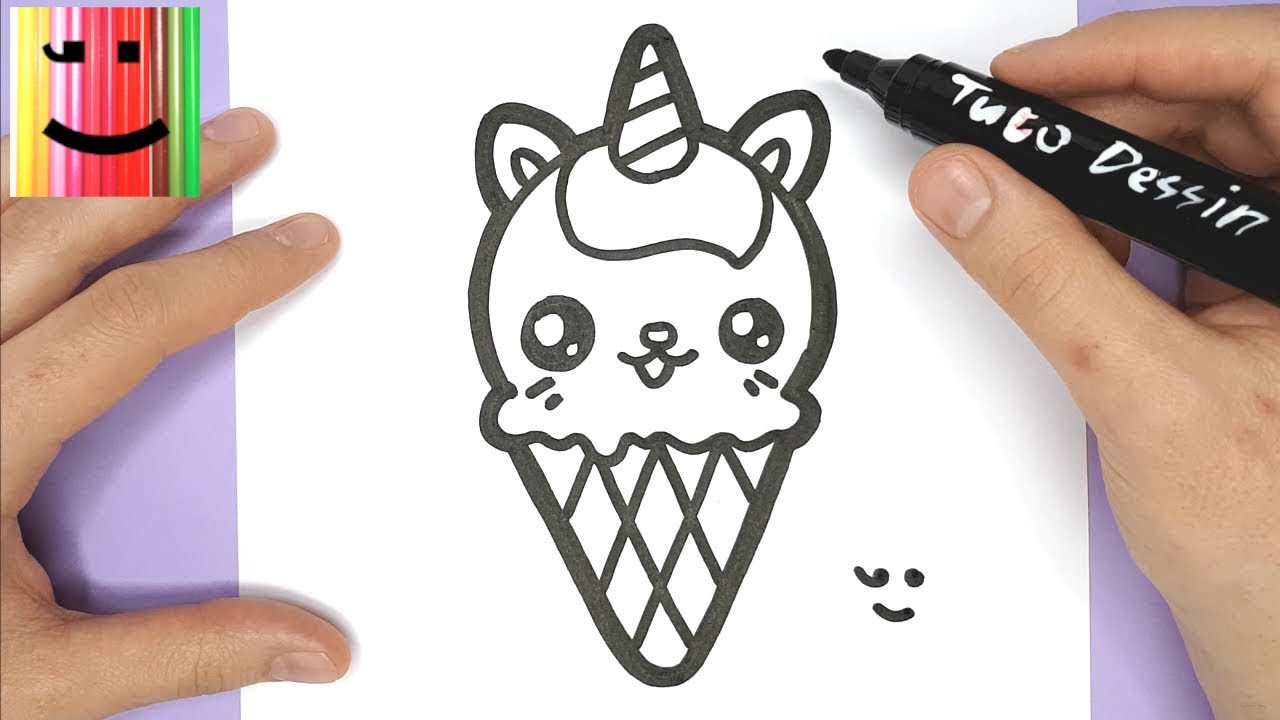 Comment dessiner et colorier une glace chat licorne kawaii tuto dessin youtube - Un chat a colorier ...