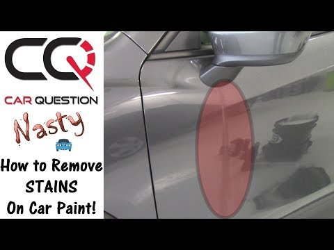 How to remove a NASTY STAIN on a car paint | Mazda Cx-5 Mirror Drip Stains