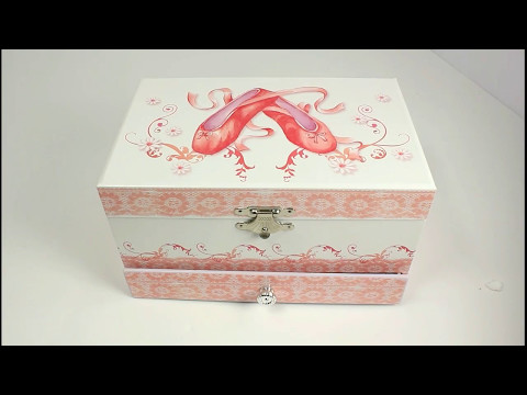 Girls Musical Jewellery Boxes - Ballet Shoes | www.beckyandlolo.co.uk