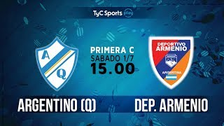 Argentino de Quilmes vs Deportivo Armenio full match