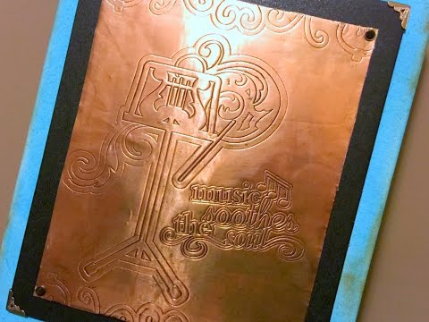 Copper Embossing with Cricut Explore