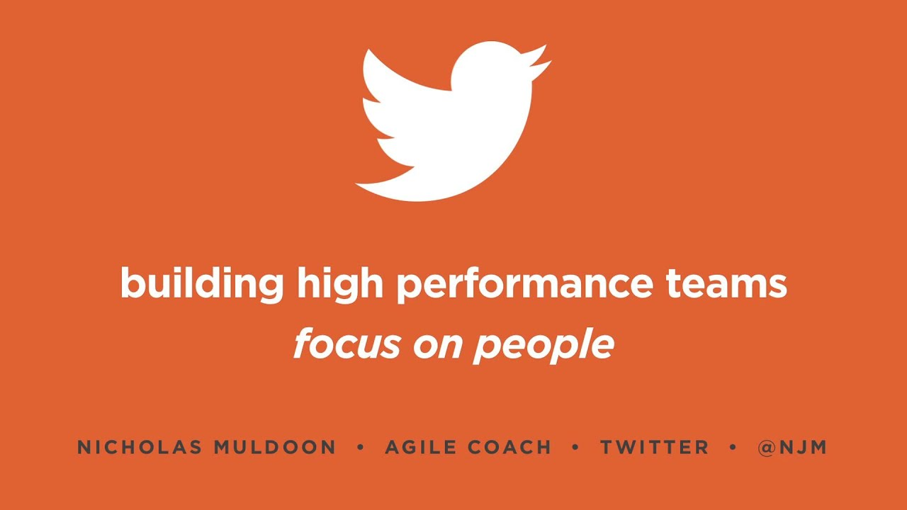 Agile Coach Sydney building high performance teams at twitter with nick muldoon