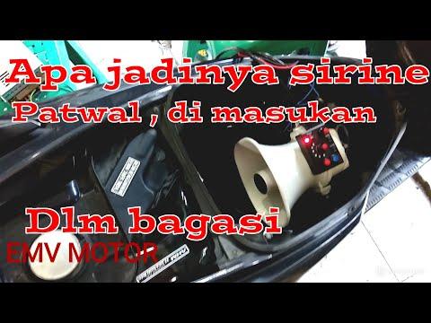 Test sirine patwal(polisi) di dlm bagasi motor
