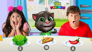 Maria Clara e JP se divertem com o novo jogo Meu Talking Tom: Amigos