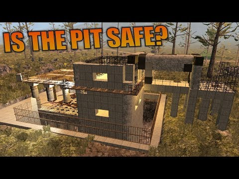 IS THE PIT SAFE? | 7 Days to Die | Let's Play Gameplay Alpha 16 | S16.4E36