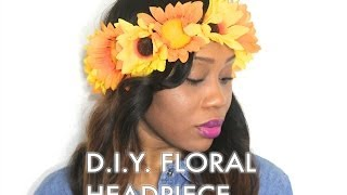 DIY: Floral Headpiece / Flower Crown Thumbnail