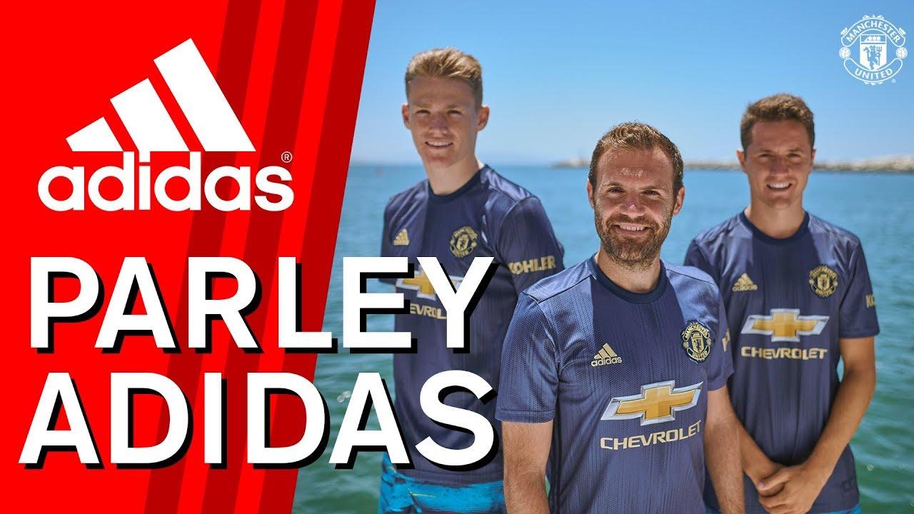 new style 74cbe 933cb Mata, McTominay & Herrera exclusive! | adidas Parley | Manchester United  third kit