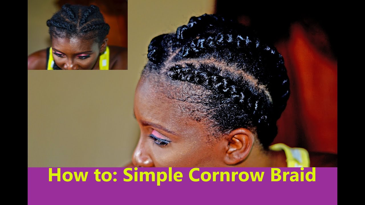 How To Cornrow Your Hair Using Braids Extensions Style Tutorial