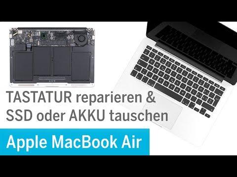 Macbook Air Tastatur Reparieren Bei Wasserschaden Ssd Akku Tauschen A1369 Youtube