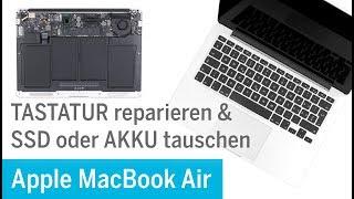 MacBook Air – Tastatur reparieren (bei Wasserschaden), SSD / Akku tauschen (A1369)