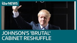 Boris Johnson shreds Cabinet in 'brutal' reshuffle | ITV News
