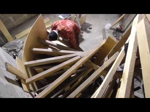 Бетонная винтовая лестница своими руками