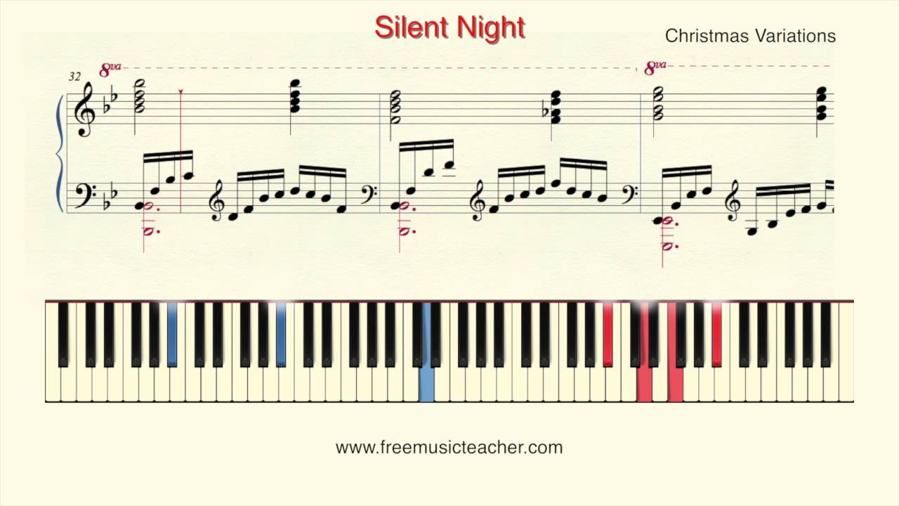 How to play piano christmas variations silent night piano how to play piano christmas variations silent night piano tutorial by ramin yousefi youtube hexwebz Image collections