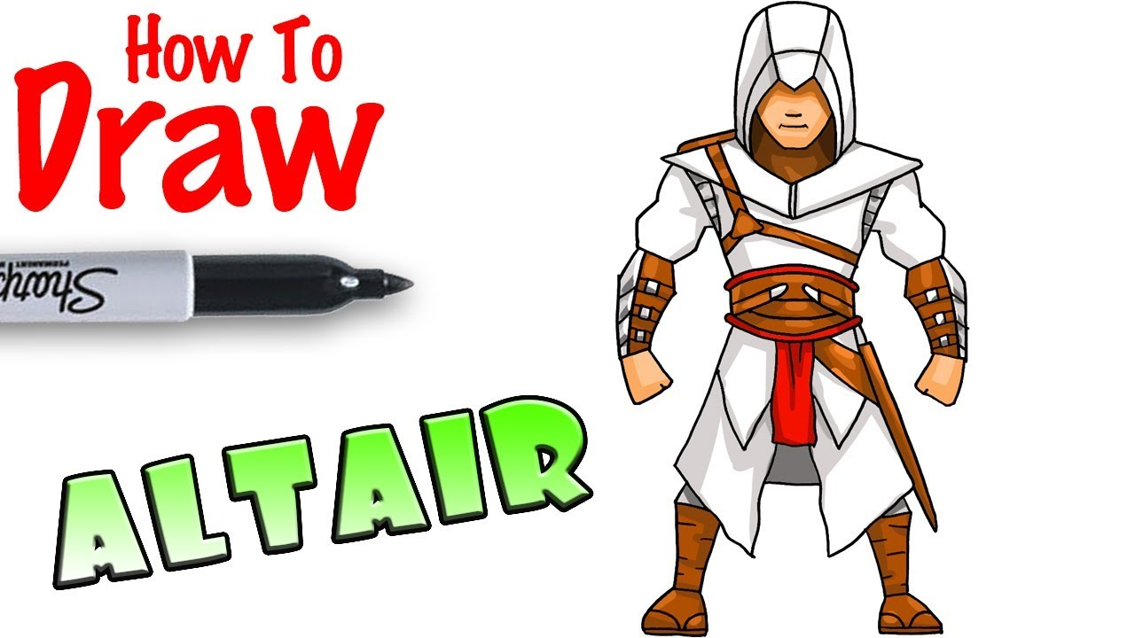 How To Draw Altair Assassin S Creed Youtube