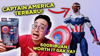 CAPTAIN AMERICA BARU INI 500 RIBUAN?! WORTH IT GAK YA? | SAM WILSON MARVEL LEGENDS UNBOXING & REVIEW