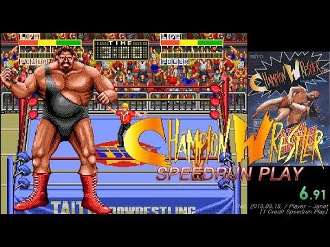 Champion Wrestler - 1CC (Speedrun Play - 5:53:78) / 챔피언 레슬러 스피드런