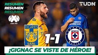Resumen y goles | Tigres 1 - 1 Cruz Azul | Liga Mx - AP 19 - J 15 | TUDN