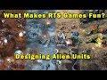What Makes RTS Games Fun: Designing Alien Units